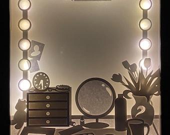 "DIY KIT ""Dressing Station"" Illuminated Shadowbox"