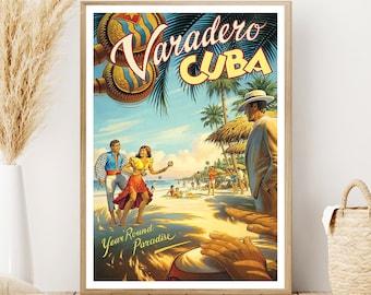 Varadero - Cuba - Varadero poster - Cuba poster - Varadero vintage poster - Cuba vintage poster - Tourism print - Travel poster - Home decor