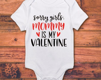 Valentines Day Personalised Name Baby Grow Mummy Daddy Love You Bodysuit