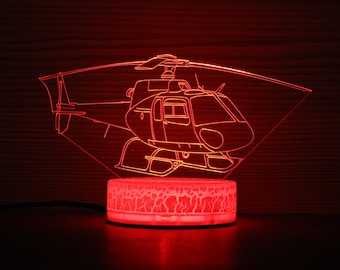 Helicopter Night Light Armed Aircraft Lamp for Kids as Room Dcor ...