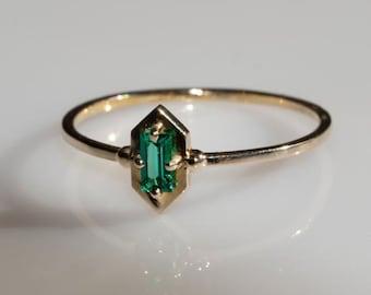 18k Gold Plated Ring Prong Set Ring Natural Black Onyx Octagon Gemstone Silver Ring Black Gemstone Ring Onyx Ring December Birthstone