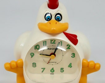 Rare Vintage ADVANCE Chicken ROOSTER Alarm CLOCK Novelty