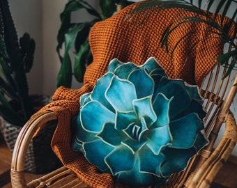 Aloe Succulent Pillow succulent pillow, plant pillow, home decor, cactus pillow, gift pillow, 3d pillow, nature pillow