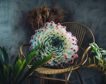 Succulent Pillow, Succulent Decor, Nature Decor, Cactus Pillow, Boho Nursery Decor,