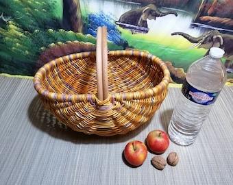SUPERB Wicker Wicker Basket Braided - ideal supply, decoration , garnished basket , mushrooms , fruit basket , groceries , storage