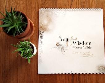 2021 Calendar - The Wit & Wisdom of Oscar Wilde | 12x12 Wall Calendar | Artsy Calendar | Appointment Calendar | Quotations