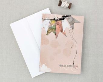 Celebrate You | Birthday | Celebrate | Encouragement | Artsy Card | 5x7 Greeting Card