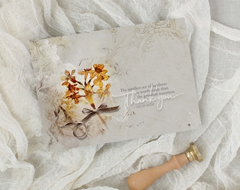 Smallest Kindness | Thank You | Gratitude | Artsy Card | 5x7 Greeting Card