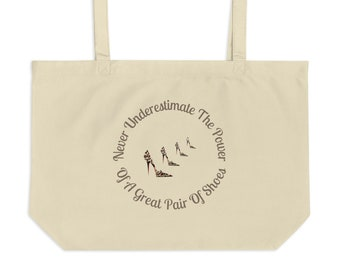Shoe Lover Totes Gift For Shoe Addicts Shoe Lover Gifts I Finally Met My Solemate Shopaholic Gifts Large Organic Tote Bag Shoe Humor