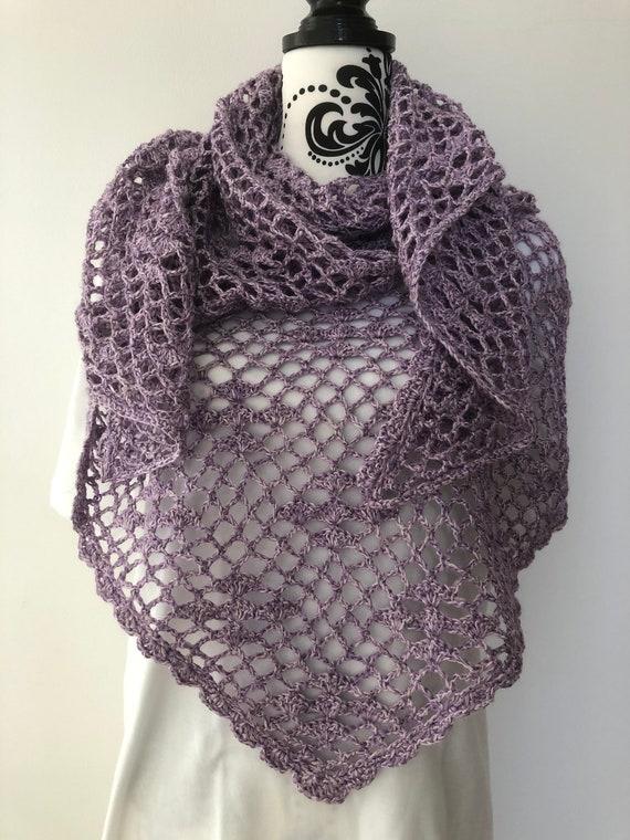 Lilac Crochet Shawl