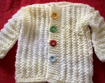 Baby Cardigan, Booties, Mittens and Beanie Set - Baby Shower - Shower Gift -Hand Knitted - Made to Order - Lots of Colours