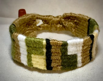 Handwoven Bracelet in Natural Colours - Hand Made - Unique - Great Gift - Textile Jewellery