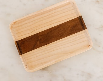 Wooden Valet tray 6 square  Spalted Tamarind