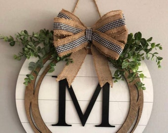 """15"""" Door Hanger with Letter"""
