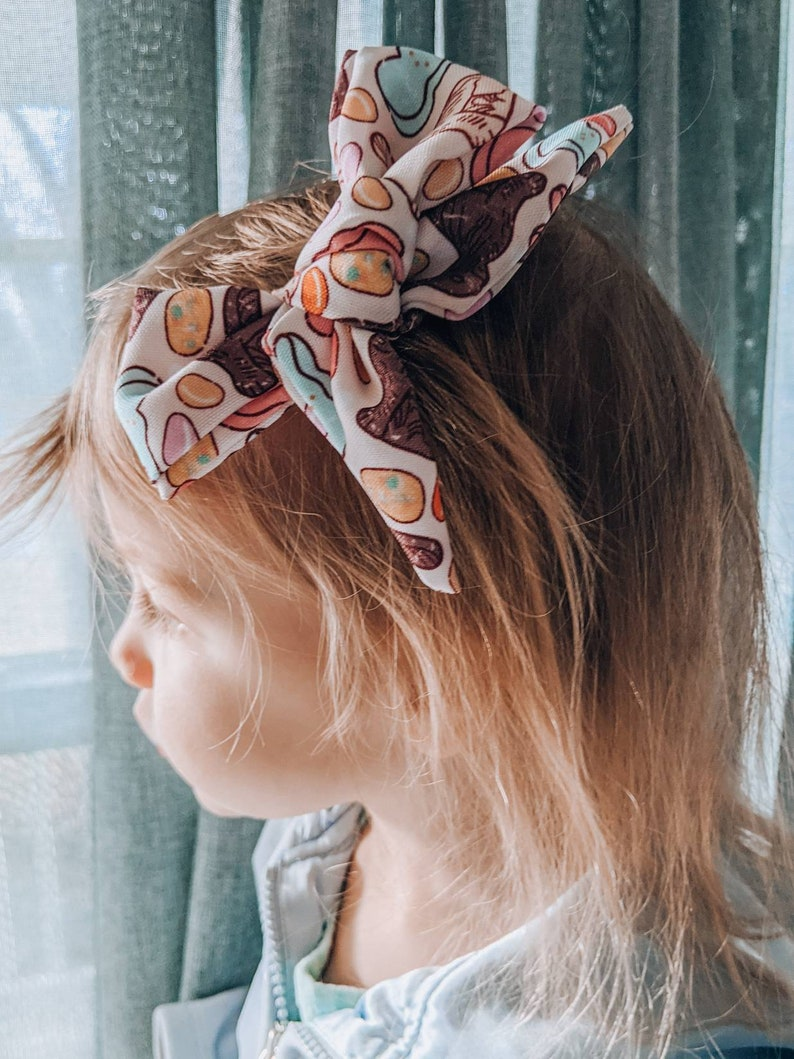 Large Hair Accessory Girls /& Toddlers Knotted Style Hair Clip Hunny Bunny Bow Jelly Bean Easter Eggs Rabbit Candy Peeps Spring