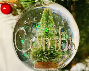 Personalized Christmas Ornament (Flat backed) Gifts For Mom