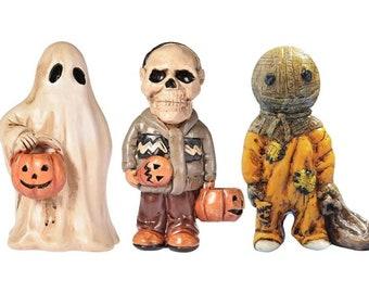 Halloween Decorations Outdoor, Vintage Halloween Decorations,Gnome Statue, Horror Statue,Scary Ghost Pumpkin Statue,Garden Decor Ornament