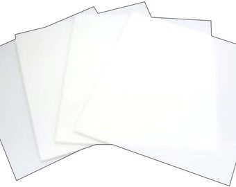 8 inch White Glass Squares 4 Pack - 96 Coe