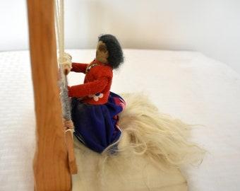 Handmade Woman Doll Weaving Cloth