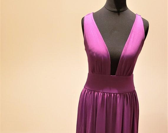 The Deep V-Neck Karen Bridesmaid Gown