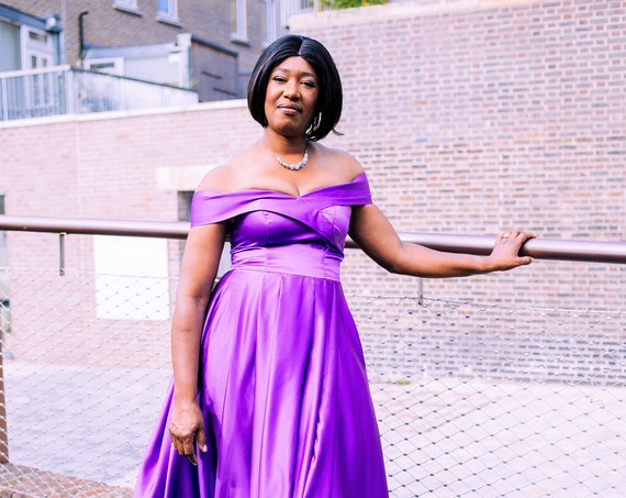 The High Slit Ball Gown In Purple