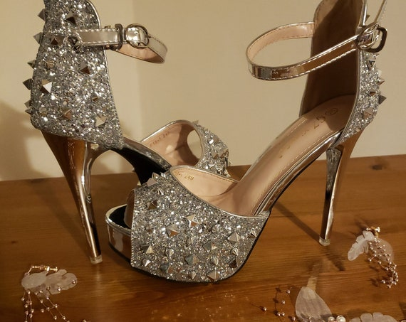 The Silver Glam Bridal Shoe