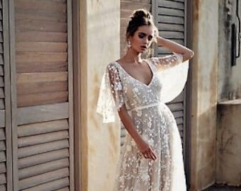 The Boho Wedding Gown
