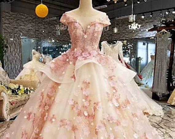 The Handmade Embroidered Princessa Wedding Gown