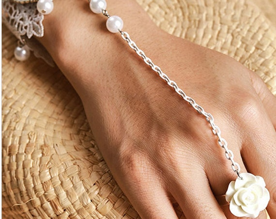 The Lace and Silver Bracelet Ring Set
