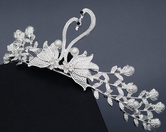 The Regal Swan Bridal Tiara