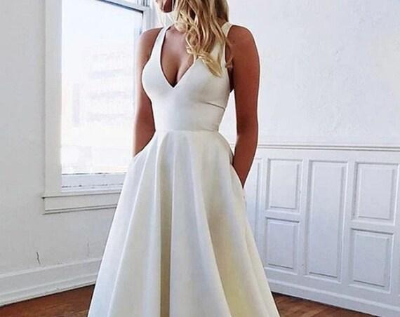 The Sasha Rose Pocket Wedding Gown