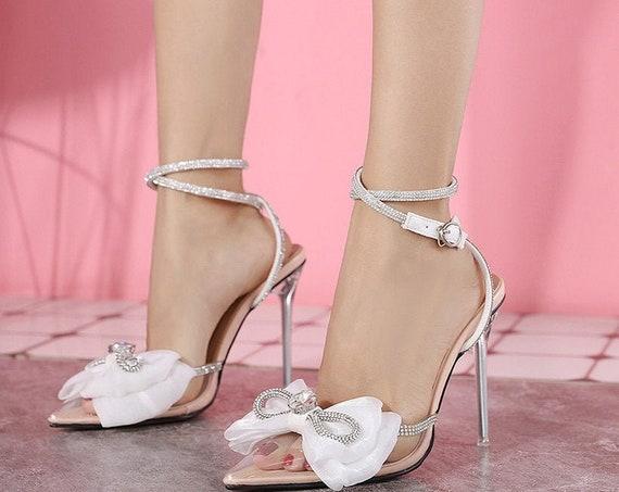 The Transparent Rhinestone Bridal Shoe
