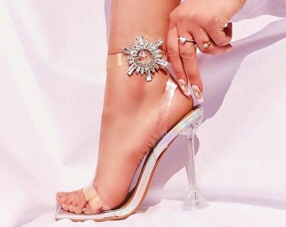 The Rhinestone Buckle Neutral Bridal Sandal