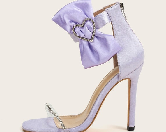 The Lilac Satin Bow-tie Bridal Shoe