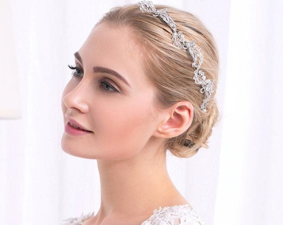 The Handmade Crystal Butterfly Hair Adornment