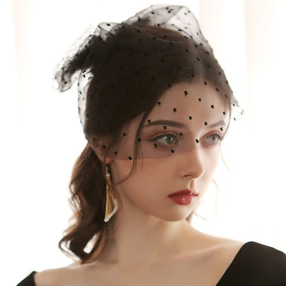 The Fish Net Style Bridal Veil In Black