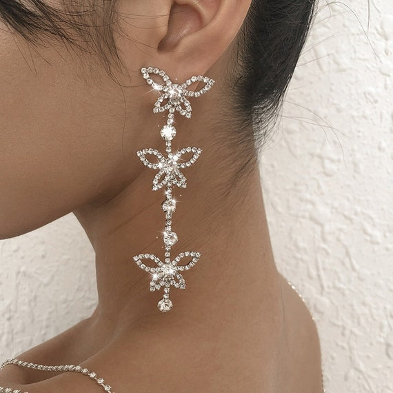 The Diamond Butterfly Earrings