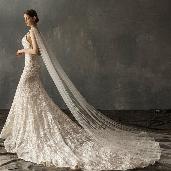The Anastasia Double-Shoulder Bridal Veil