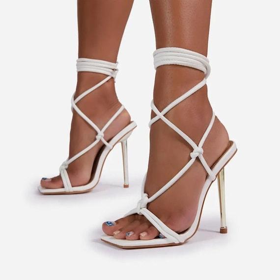The Gold Heel Strappy Gladiator Sandal