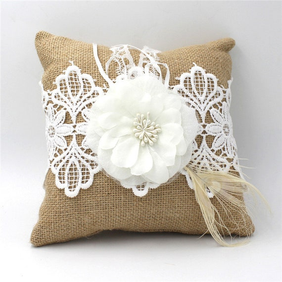The Natural Linen Handmade Ring Cushion