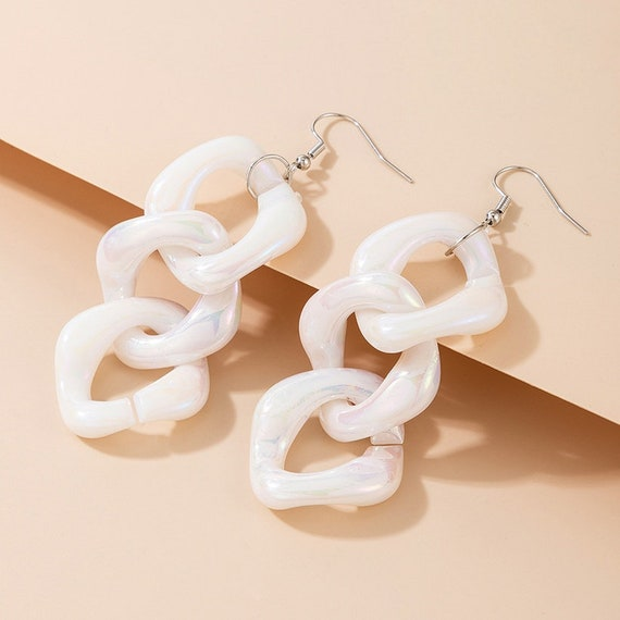 The Three Square Linked Earrings
