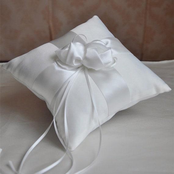 The Flower Bud Satin Ring Bear Pillow