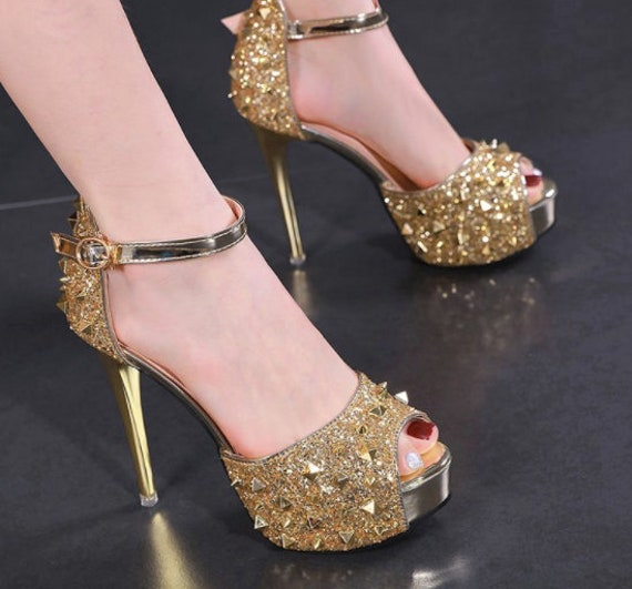 The Gold Glam Bridal Shoe