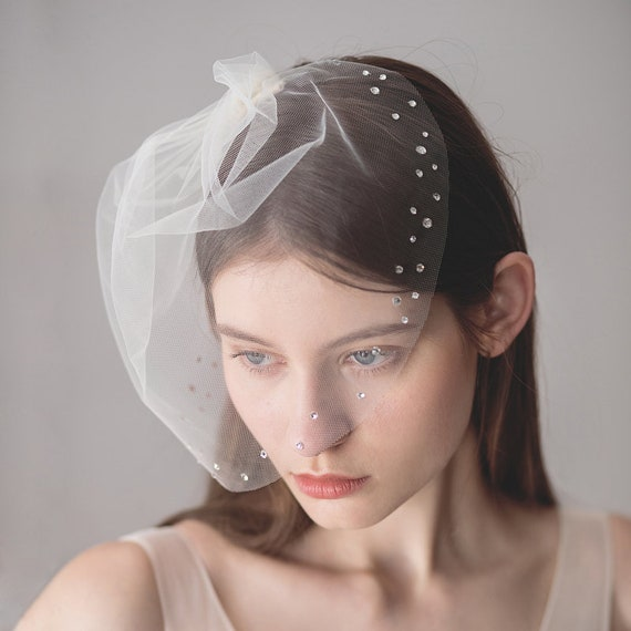 The Rhinestone Bridal Veil