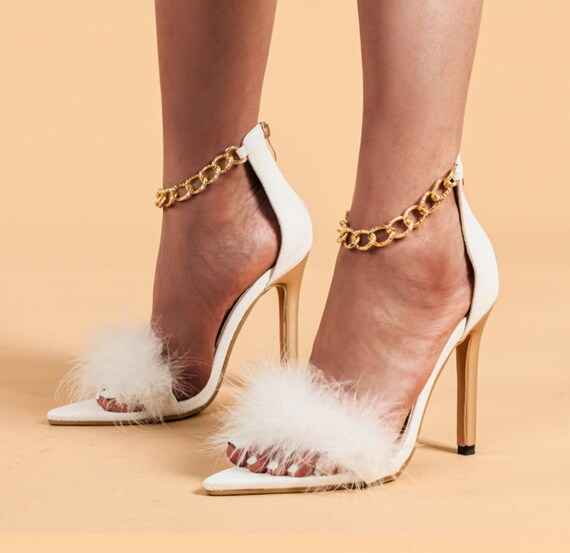 The Fluffy Strap & Chain Link Sandal