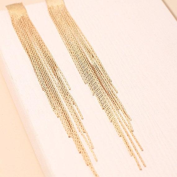 The Golden Waterfall Earrings