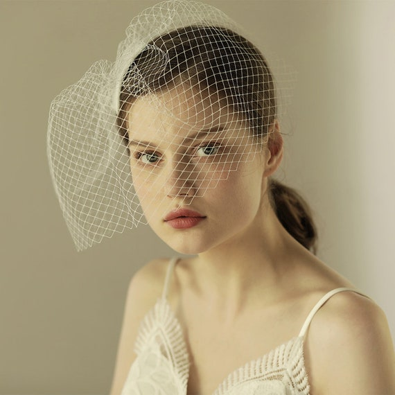 The Netted Organza Bridal Veil