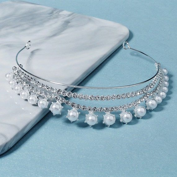 The Handmade Rhinestone And Pearl Headband