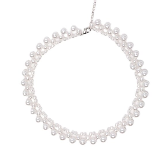 The Three-Tiered Faux Pearl Choker