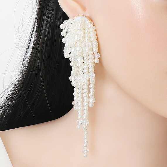 The Cascading Pearl Earrings